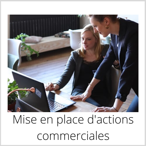 Mise en place d'actions commerciales