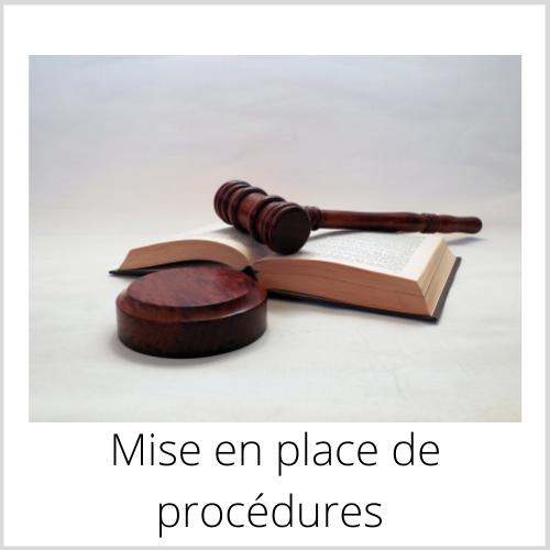 Mise en place de procédures