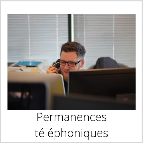 Permanences téléphoniques