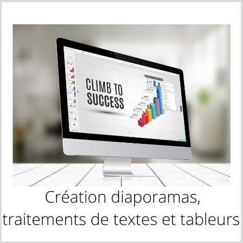création diaporamas, traitements textes