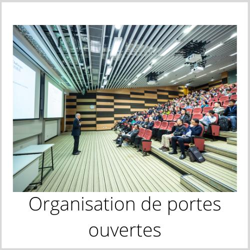 Organisation de portes ouvertes